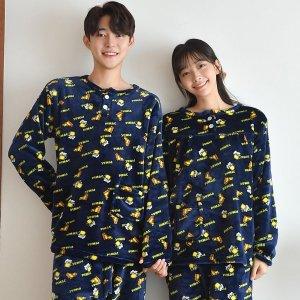 [속옷미인] 신상 트렌디한 커플 잠옷 홈웨어 파자마 원피스 세트