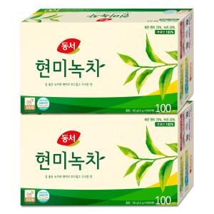 [동서] 국내산100% 현미녹차 100Tx2 /구수한맛